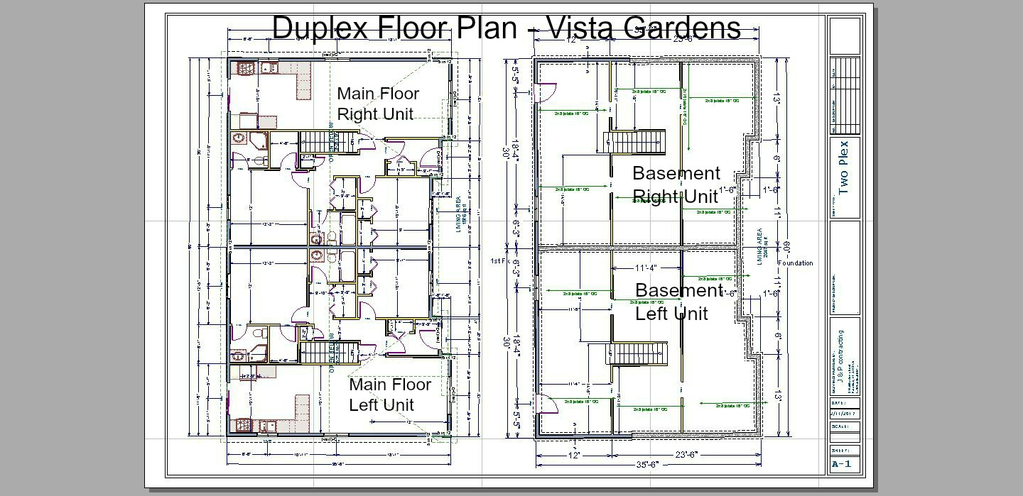 Vista gardens for Quadruplex floor plans